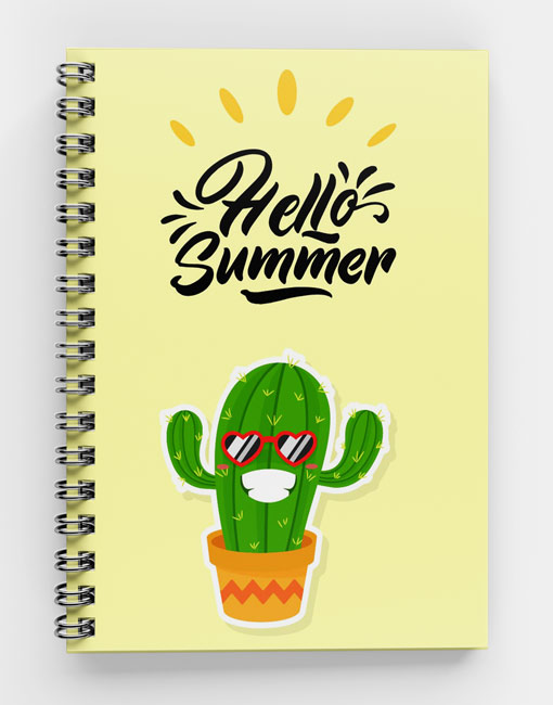 Hello Summer Cactus-Spiral Notebook SS-SUM-01 (w)
