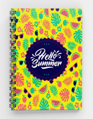 Hello-Summer--Spiral Notebook