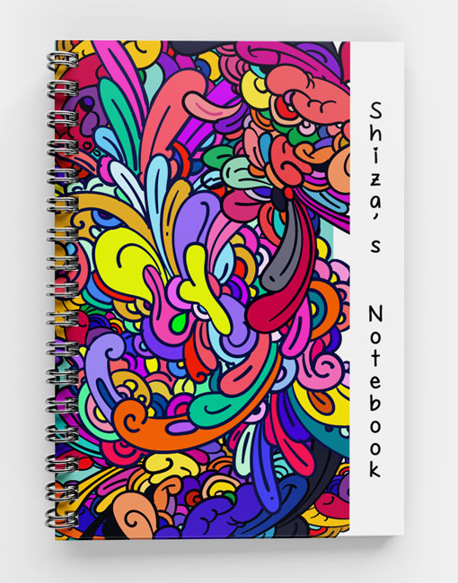 Colorful Abstract Doodles-Spiral Notebook