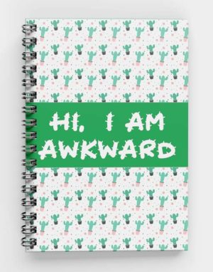 I am awkward, Cactus Style Spiral notebook meco publiactions