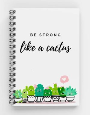 Life is like Cactus Spiral Notebook (mecopublications)