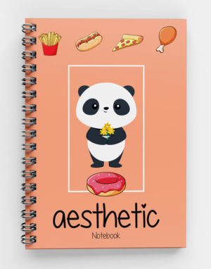 Aesthetic Food with Panda Spiral Notebook-Cus-04(w)