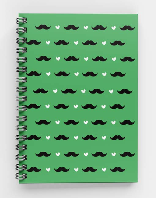 Moustache-Pattern-Spiral-notebook-2