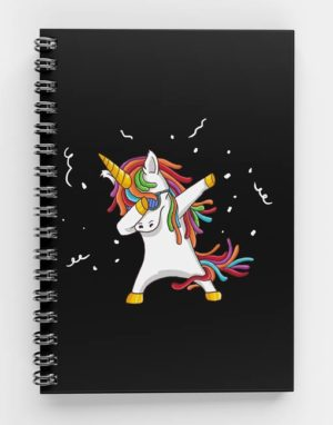 Unicorn Dab Spiral Notebook UNI-01.6 mecopublications
