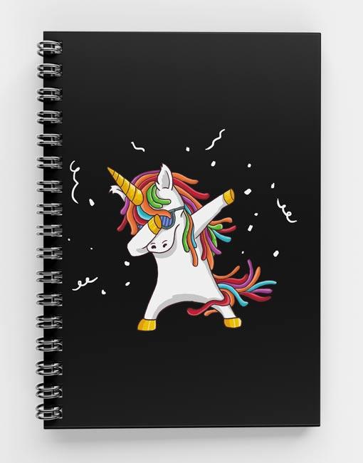 Unicorn Dab Spiral Notebook UNI-01.6 mecopublications